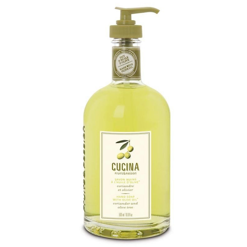 Hand Soap with Olive Oil Coriander and Olive Tree