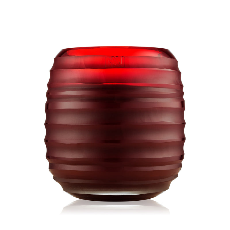Onno Sphere Candles | Ruby Red Glass