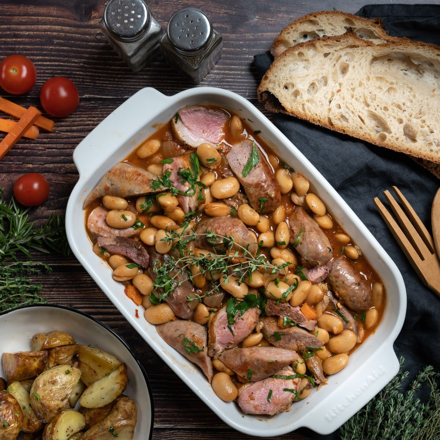 Traditional Toulouse Cassoulet, serves 2