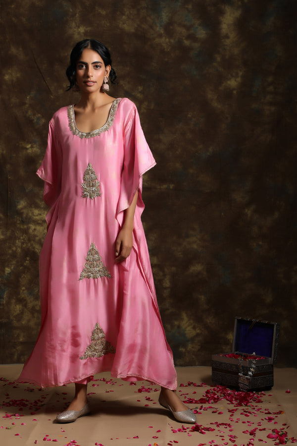 Gulabi Kaftan With Inner And Jama(Bottom)
