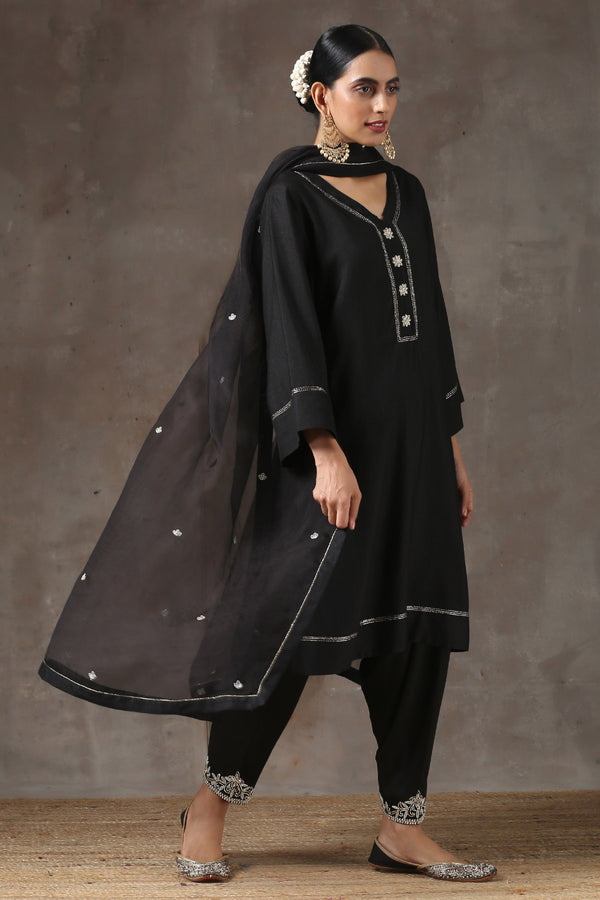 Surman Lahoriya Kurta with Peshwa Salwar and Organza Dupatta