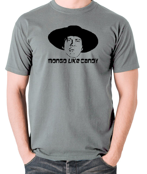 Blazing Saddles - Mongo Like Candy - Men's T Shirt - grey