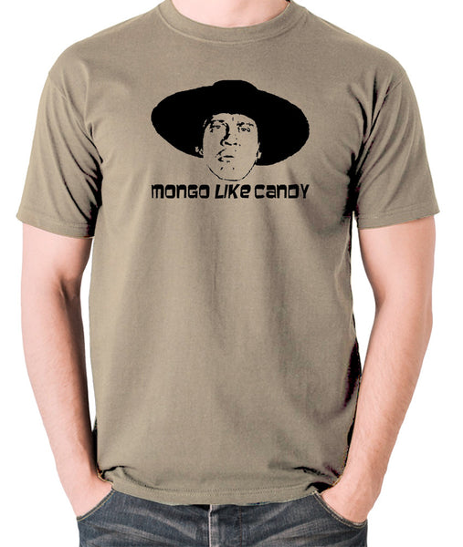 Blazing Saddles - Mongo Like Candy - Men's T Shirt - khaki