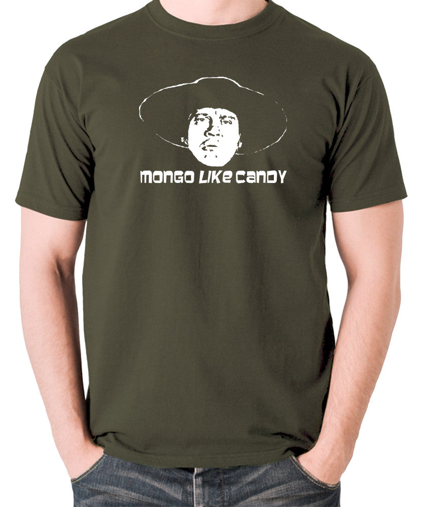 Blazing Saddles - Mongo Like Candy - Men's T Shirt - olive