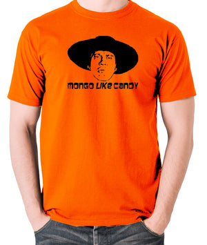 Blazing Saddles - Mongo Like Candy - Men's T Shirt - orange