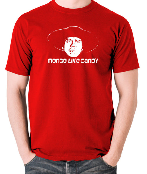 Blazing Saddles Mongo Like Candy T Shirt in red