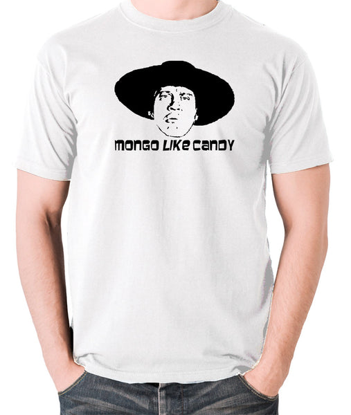 Blazing Saddles Mongo Like Candy T Shirt in white