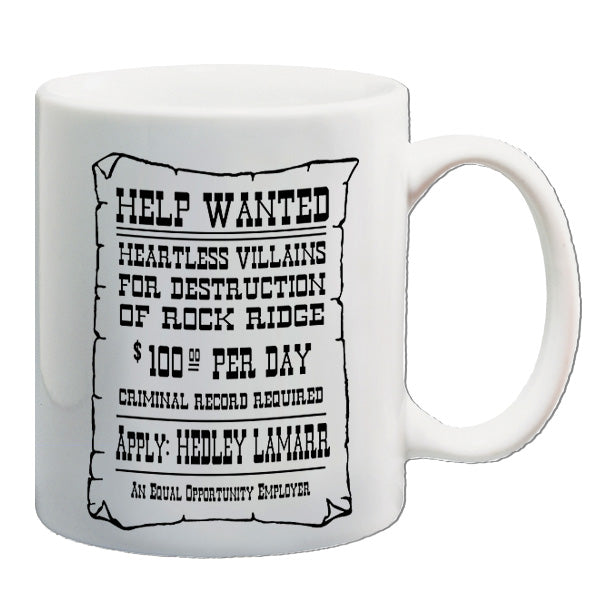 Blazing Saddles - Help Wanted Poster - Mug