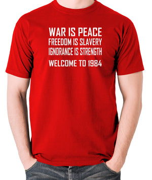 1984, George Orwell - War Is Peace - Men's T Shirt - red