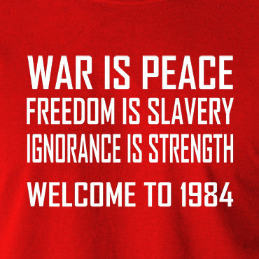 1984 ignorance is strength essay 1984 war is peace 995 words | 4 pages 1984 essay war is peace freedom is slavery ignorance is strength this is the slogan of the ministry of truth, a branch of the totalitarian government in post-war london.