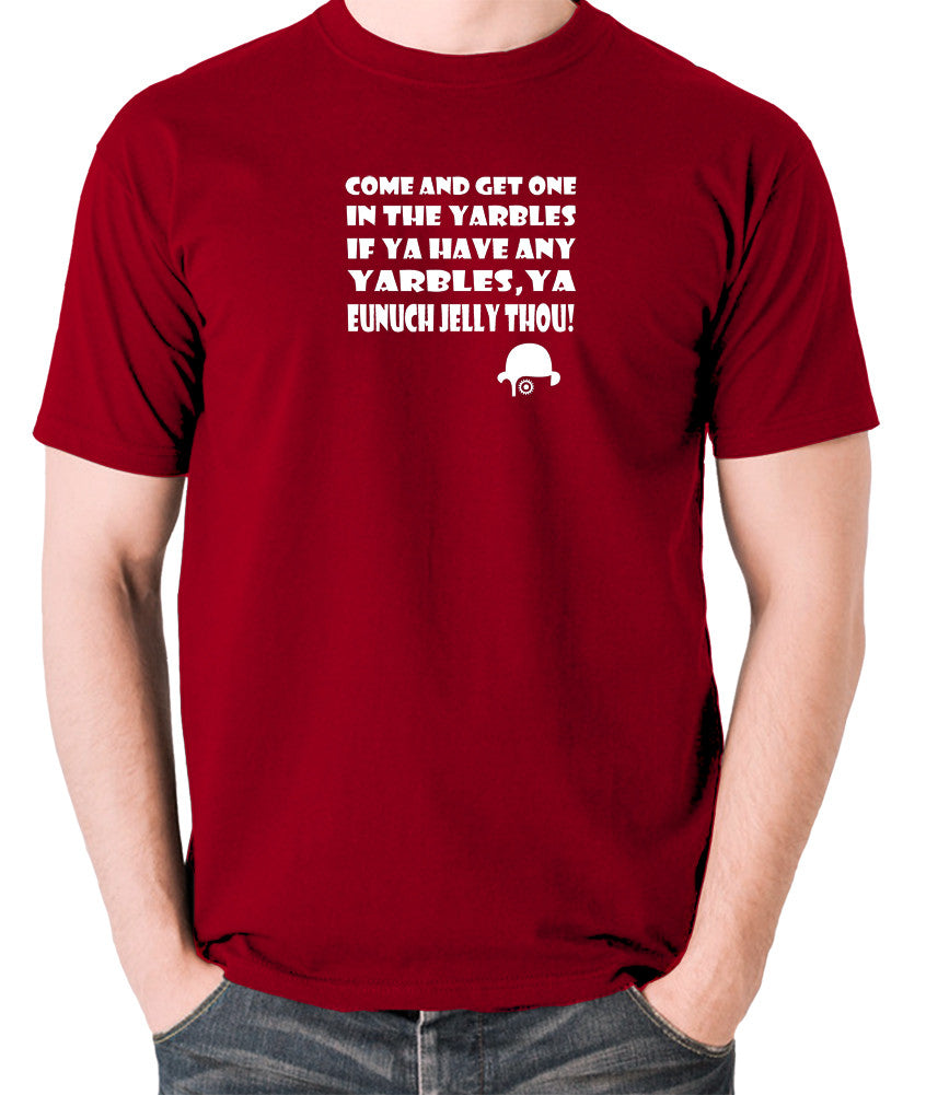 A Clockwork Orange - Come and Get One In The Yarbles - Men's T Shirt - brick red