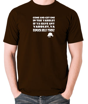 A Clockwork Orange - Come and Get One In The Yarbles - Men's T Shirt - chocolate