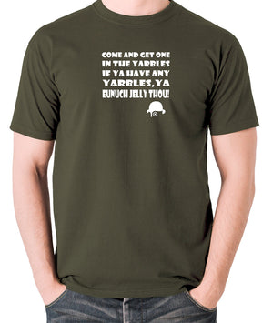 A Clockwork Orange - Come and Get One In The Yarbles - Men's T Shirt - olive