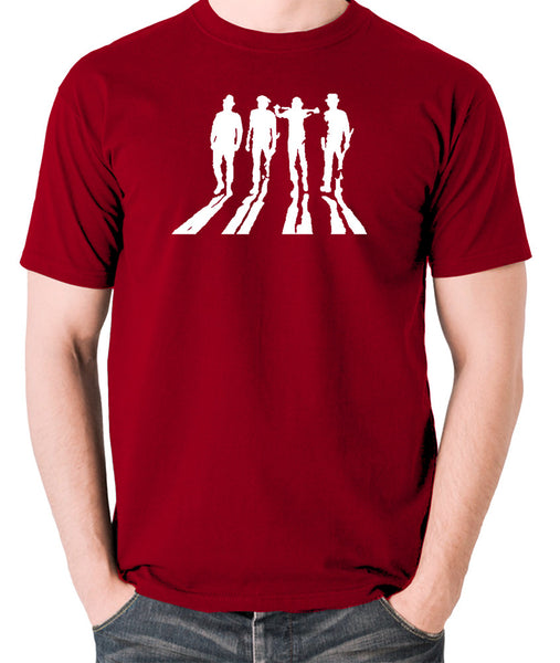 A Clockwork Orange - Droogs Silhouette - Men's T Shirt - brick red
