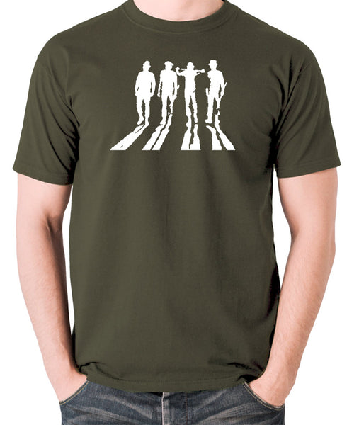 A Clockwork Orange - Droogs Silhouette - Men's T Shirt - olive