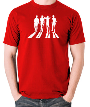 A Clockwork Orange - Droogs Silhouette - Men's T Shirt - red