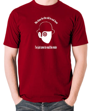 A Clockwork Orange - I've Just Come To Read The Meter - Men's T Shirt - brick red