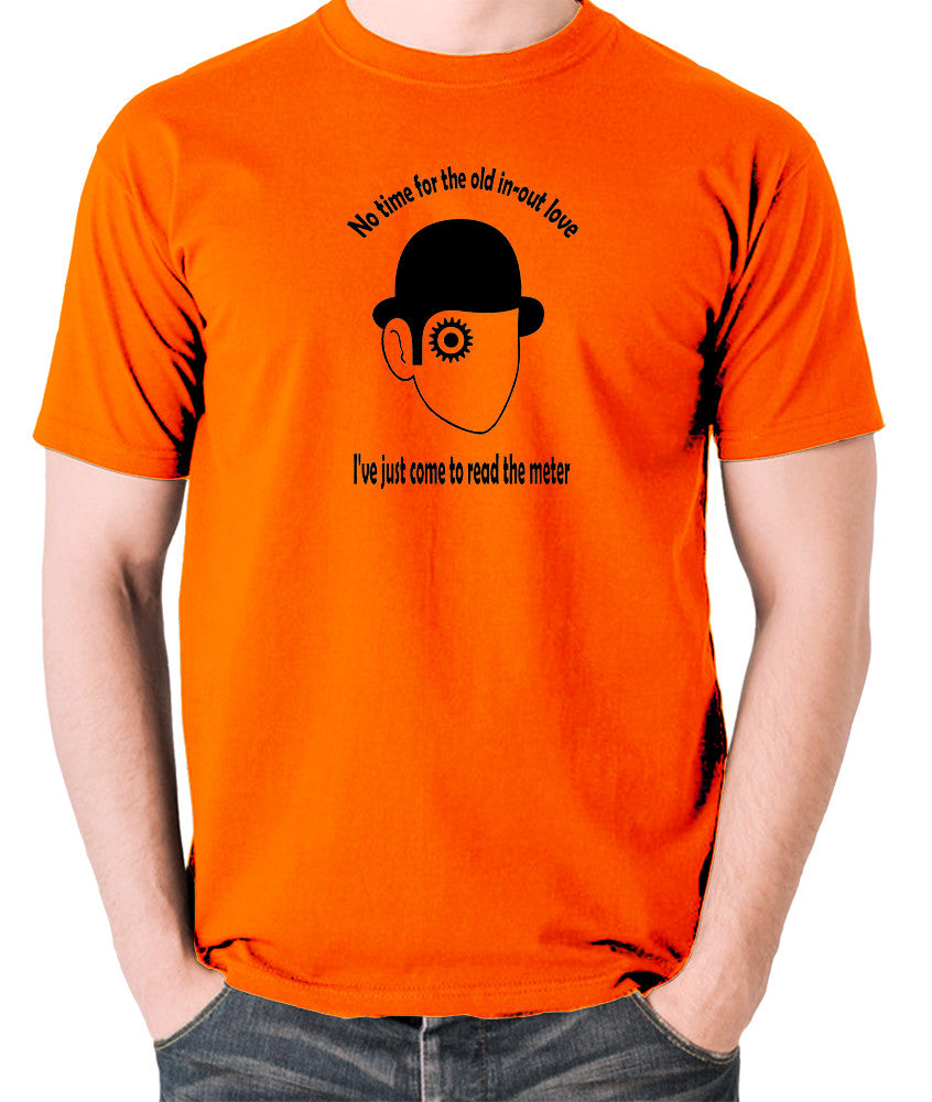 A Clockwork Orange - I've Just Come To Read The Meter - Men's T Shirt - orange