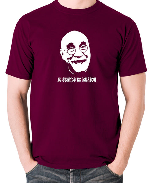 Alf Garnett It Stands To Reason T Shirt burgundy