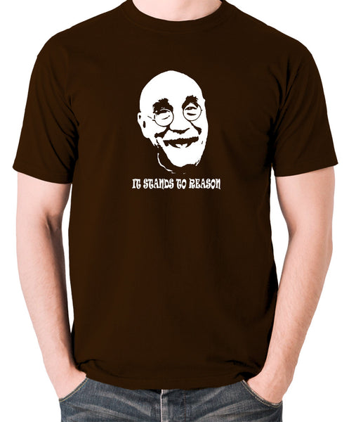 Alf Garnett It Stands To Reason T Shirt chocolate