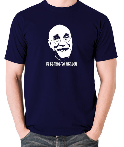 Alf Garnett It Stands To Reason T Shirt navy
