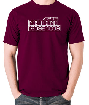 Alien - Nostromo Start-up Screen - Men's T Shirt - burgundy