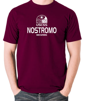 Alien - USCSS Nostromo - Men's T Shirt - burgundy