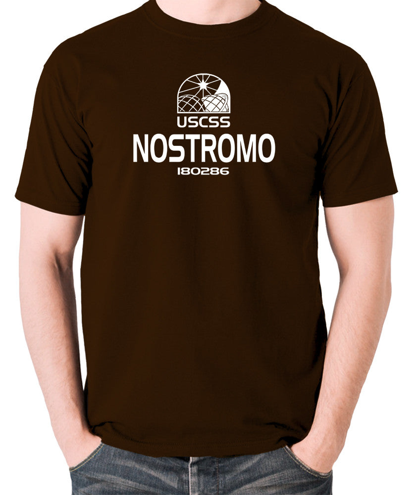 Alien - USCSS Nostromo - Men's T Shirt - chocolate
