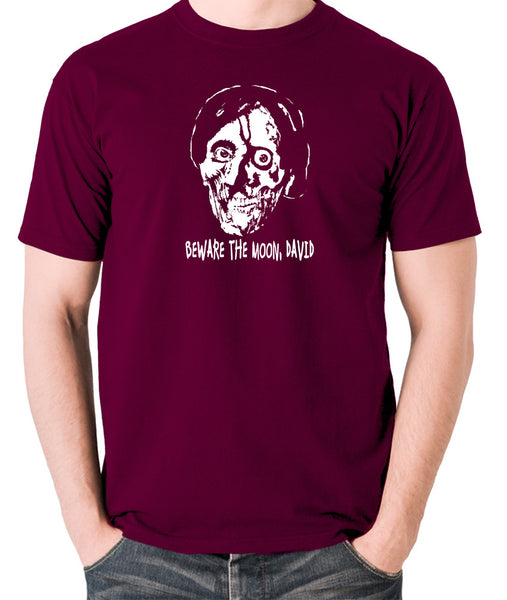 An American Werewolf in London - Beware The Moon David - Men's T Shirt - burgundy