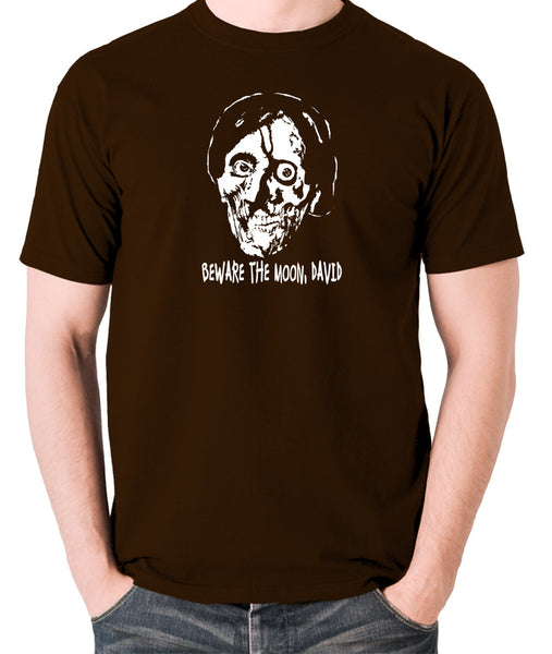 An American Werewolf in London - Beware The Moon David - Men's T Shirt - chocolate