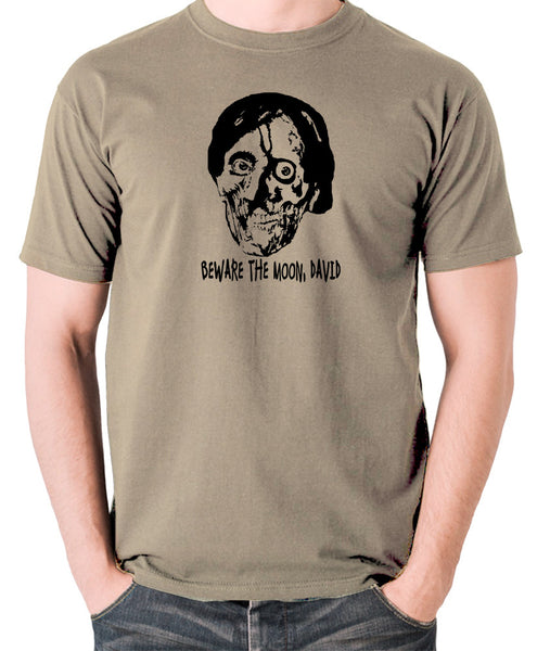 An American Werewolf in London - Beware The Moon David - Men's T Shirt - khaki