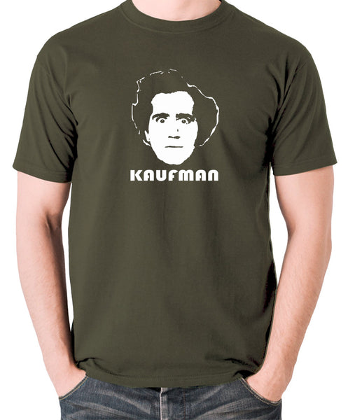Andy Kaufman T Shirt olive