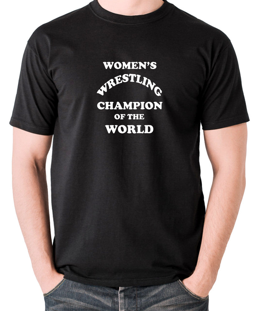 Andy Kaufman Women's Wrestling Champion Of The World T Shirt black