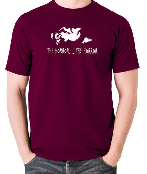 Apocalypse Now - The Horror - Men's T Shirt - burgundy