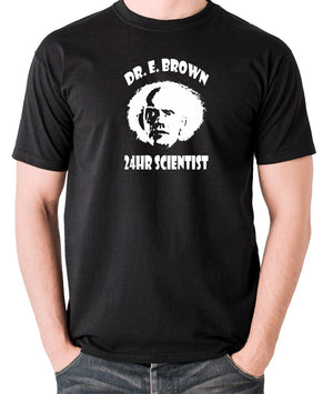 Back To The Future - Doc Brown 24hr Scientist - Men's T Shirt - black