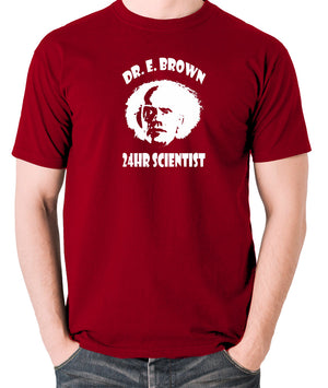 Back To The Future - Doc Brown 24hr Scientist - Men's T Shirt - brick red