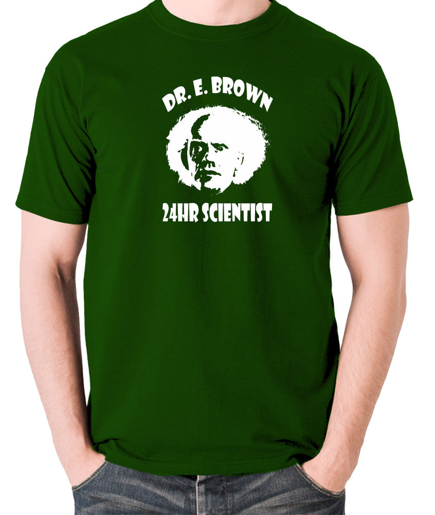 Back To The Future - Doc Brown 24hr Scientist - Men's T Shirt - green