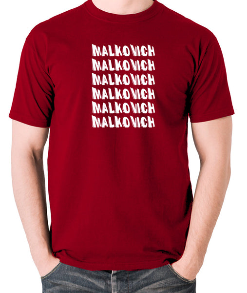 Being John Malkovich - Malkovich - Men's T Shirt - brick red