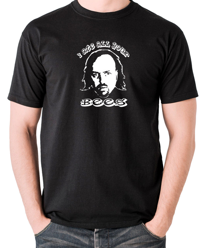 Black Books I Ate All Your Bees T Shirt black
