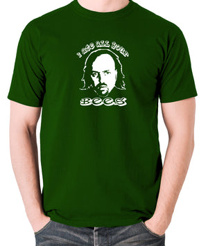 Black Books I Ate All Your Bees T Shirt green