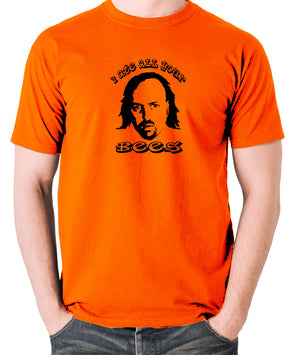 Black Books I Ate All Your Bees T Shirt orange