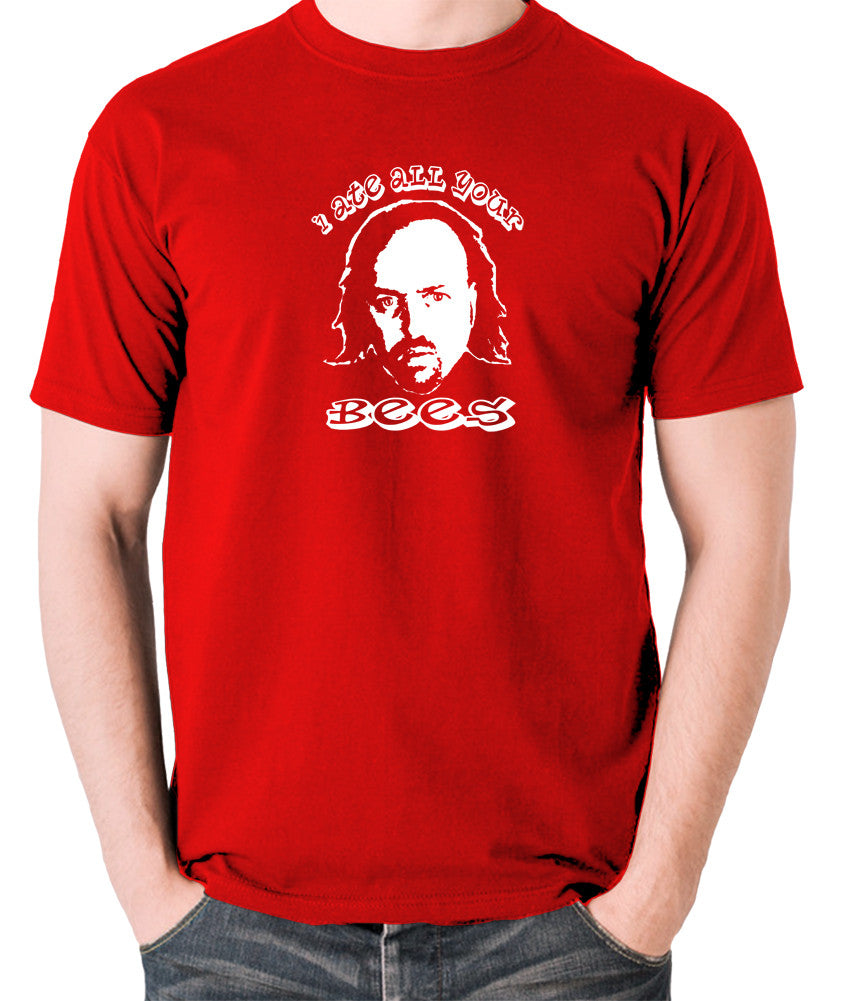 Black Books I Ate All Your Bees T Shirt red