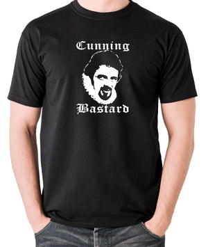 Blackadder - Rowan Atkinson - Cunning Bastard - Men's T Shirt - black
