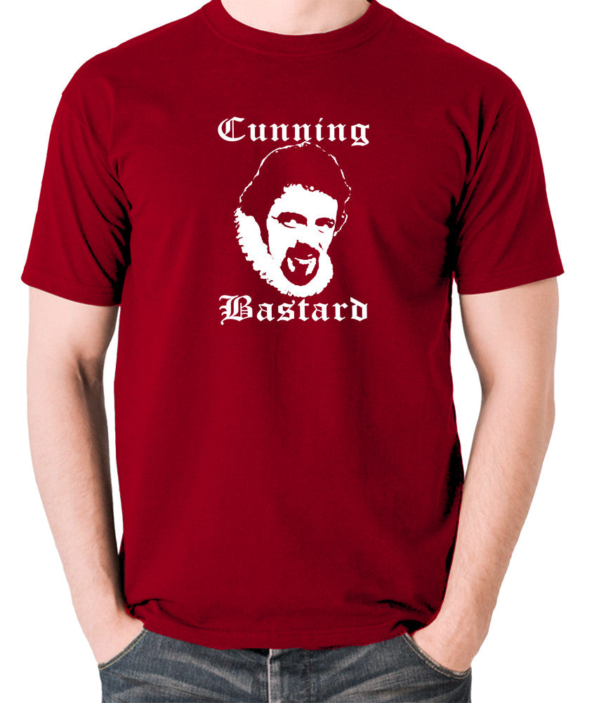 Blackadder - Rowan Atkinson - Cunning Bastard - Men's T Shirt - brick red