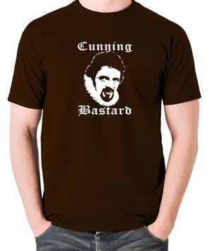 Blackadder - Rowan Atkinson - Cunning Bastard - Men's T Shirt - chocolate