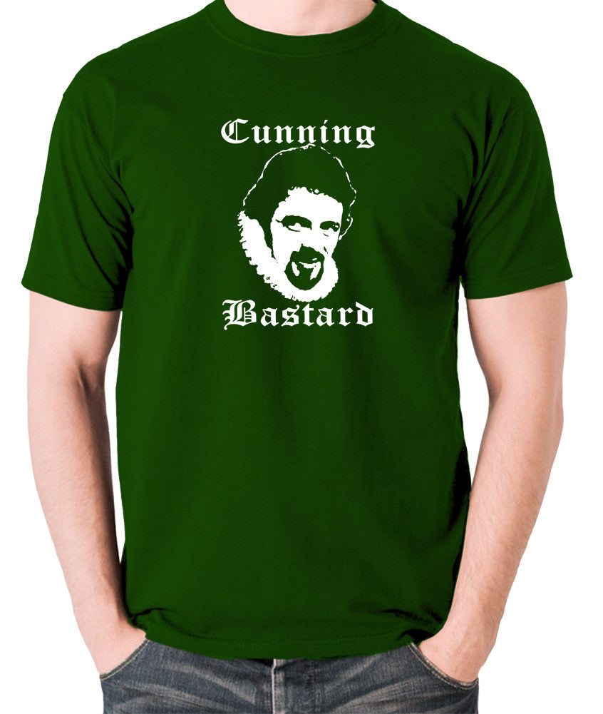 Blackadder - Rowan Atkinson - Cunning Bastard - Men's T Shirt - green
