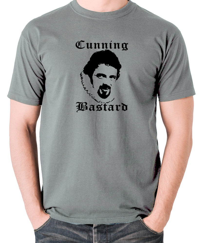 Blackadder - Rowan Atkinson - Cunning Bastard - Men's T Shirt - grey
