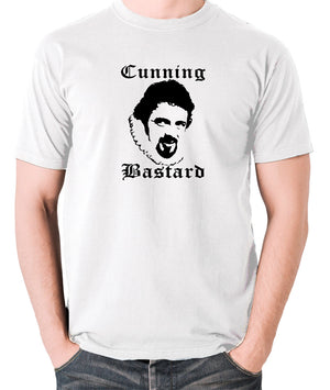 Blackadder - Rowan Atkinson - Cunning Bastard - Men's T Shirt - white