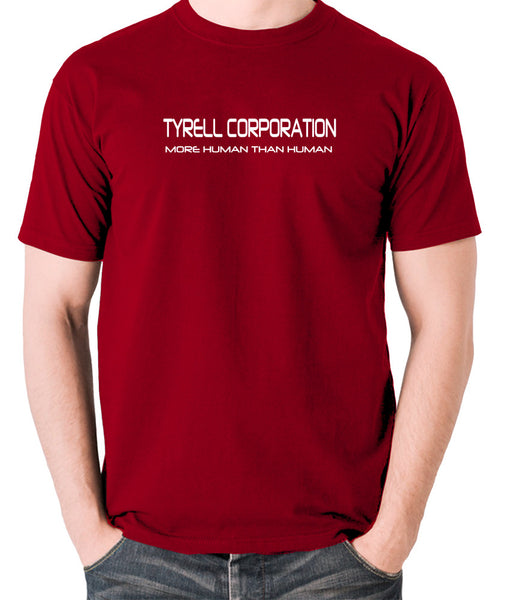 Blade Runner - Tyrell Corporation, More Human than Human - Men's T Shirt - brick red
