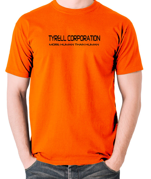 Blade Runner - Tyrell Corporation, More Human than Human - Men's T Shirt - orange